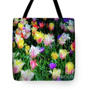 Mixed Tulips In Bloom  Tote Bag