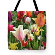 Mixed Tulips Tote Bag
