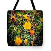 Mixture Of Flowers On Summer Day Tote Bag