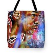 Mj Painted Tote Bag