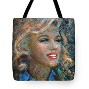 Mm Ice Blue Tote Bag