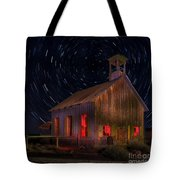 Moab Schoolhouse Star Trails Tote Bag