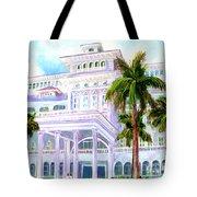 Moana Surfrider Hotel On Waikiki Beach #206 Tote Bag