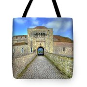 Moat House Leeds Castle Tote Bag by Chris Thaxter