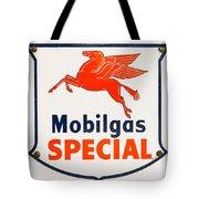 Mobil Gas Vintage Sign Tote Bag