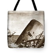 Moby Dick Both Jaws, Like Enormous Shears Bit The Craft Complete In Half Tote Bag