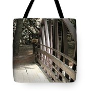 Mocha Colored Walking Bridge In American Fork Canyon Utah Tote Bag