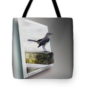 Mockingbird - Use Red-cyan 3d Glasses Tote Bag