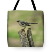 Perched On An Old Fence Tote Bag
