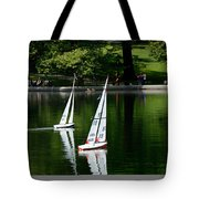 Model Boats Central Park New York Tote Bag