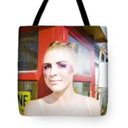 Model In Lace Makeup Tote Bag
