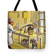 Model Kitchen, 1900s French Postcard Tote Bag