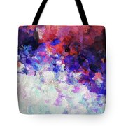 Modern Abstract Painting In Blue Tote Bag