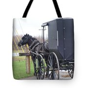 Modern Amish Horse And Buggy Tote Bag
