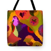 Modern Art Dove Tote Bag