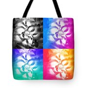 Modern Art Meets My Flowers Tote Bag