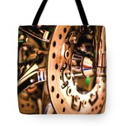 Modern Chrome Tote Bag