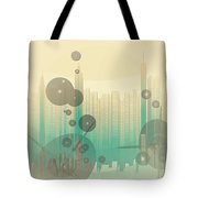 Modern City Abstract Tote Bag