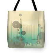Modern City Abstract Tote Bag