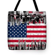 Modern City Scape American Flag Tote Bag