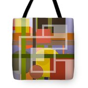 Modern Harmonious Abstract Tote Bag