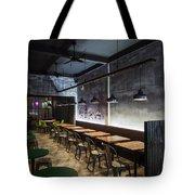 Modern Industrial Contemporary Interior Design Restaurant Tote Bag
