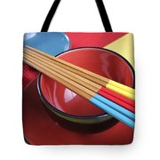 Modern Japanese Oriental Place Setting Tote Bag