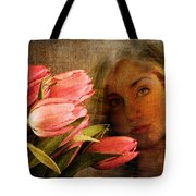 Modern Mona Lisa Tote Bag