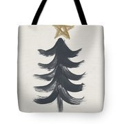 Modern Primitive Black And Gold Tree 1- Art By Linda Woods Tote Bag