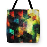 Modern Quadratic Abstraction Tote Bag
