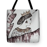 Modern Queen Tote Bag