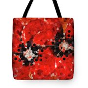 Modern Red Poppies - Sharon Cummings Tote Bag