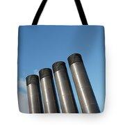 Modern Restaurant Chimneys Tote Bag