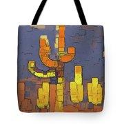 Modern Saguaro - Red Tote Bag