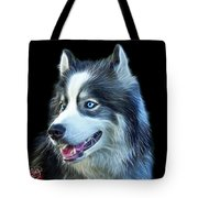 Modern Siberian Husky Dog Art - 6024 - Bb Tote Bag