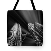 Modern Skyscraper Black And White Picture Tote Bag