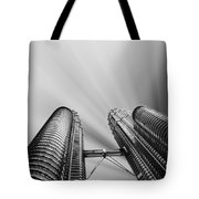 Modern Skyscraper Black And White  Tote Bag by Stefano Senise