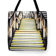 Modern Subway Steps In London Canary Wharf District Tote Bag