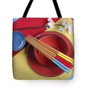 Modern Take On Traditional Japanese Oriental Place Setting Tote Bag
