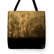 Morning Fog, #2, Smoky Mountains, Tennessee Tote Bag