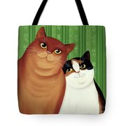 Moggies Tote Bag by Magdolna Ban