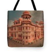 Mohatta Palace At Sunset Tote Bag