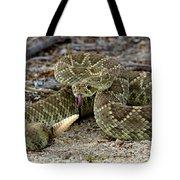 Mohave Green Rattlesnake Striking Position 3 Tote Bag