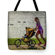 Moher And Child Jogging Tote Bag
