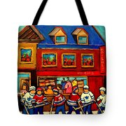 Moishes Steakhouse Hockey Practice Tote Bag