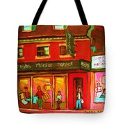 Moishes Steakhouse On The Main Tote Bag