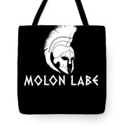 Molon Labe Spartan Warrior Helmet Tote Bag