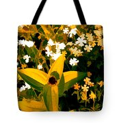 Molten Gold Flowers Tote Bag