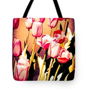 Molten Gold Tulips Tote Bag