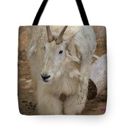 Molting Mountain Goat Tote Bag